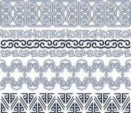 classic traditional pattern lace 05   vector material