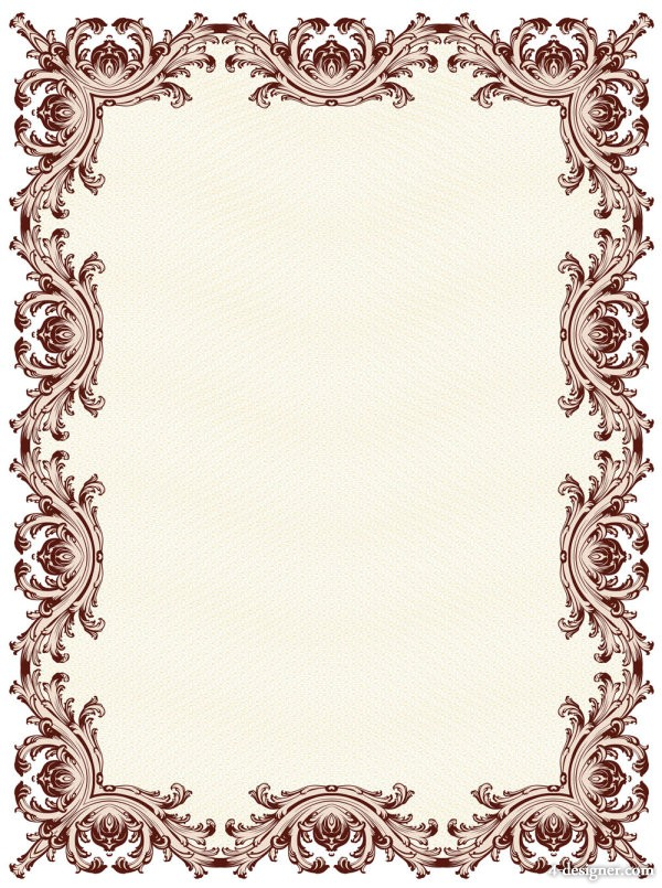 exquisite forgery pattern border 02   vector material