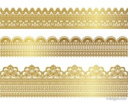 golden lace pattern 01   vector material
