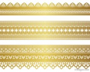 golden lace pattern 04   vector material