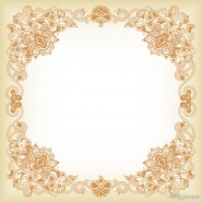 Beautifully pattern the border 03   vector material