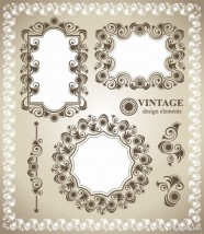 Classic lace pattern 01   vector material