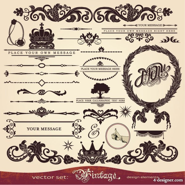 European lace pattern 01   vector material