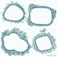 Hand painted cartoon Lace 03   vector material