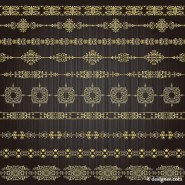 Vector golden lace pattern 03   vector material