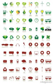 80 simple icon vector material