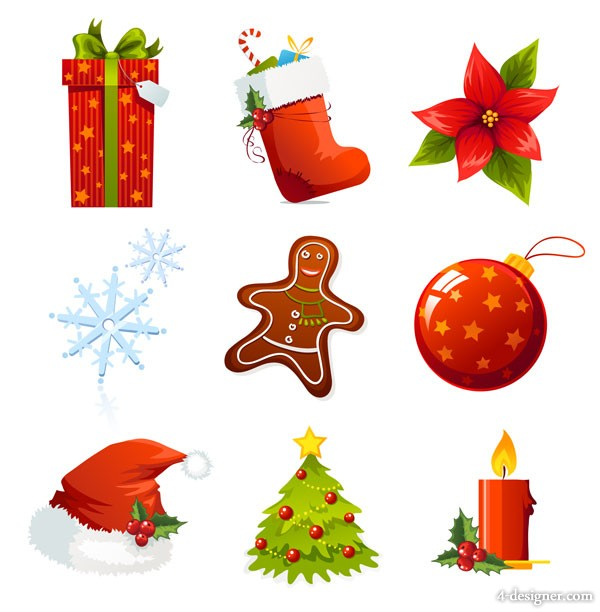 A beautiful Christmas icon vector material