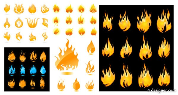A wide range of flame vector material