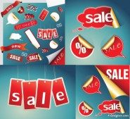 Practical sales discount icon vector material purchase