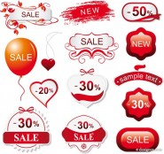 Red commodity theme vector material