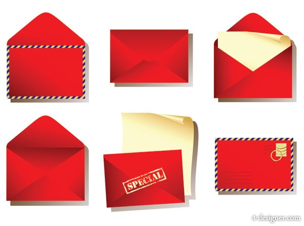 Red envelope vector material