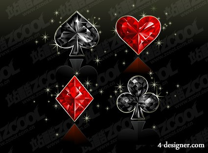 The diamond textured Poker graphics vector material