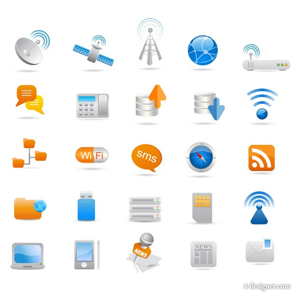 The industrial icon vector material