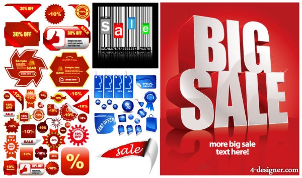 The sale icon poster vector material