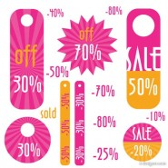 The simple discount sales tag vector material