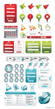 Web design commonly used elements of vector material