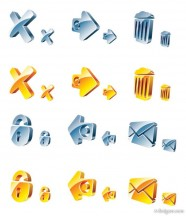 3D crystal texture of the icon vector material  2