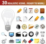 A beautiful icon vector material