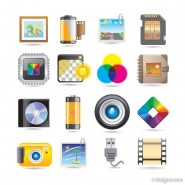 Beautifully exquisite small icons   Vector material