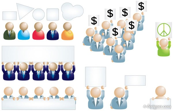 Business people icon 01   vector material