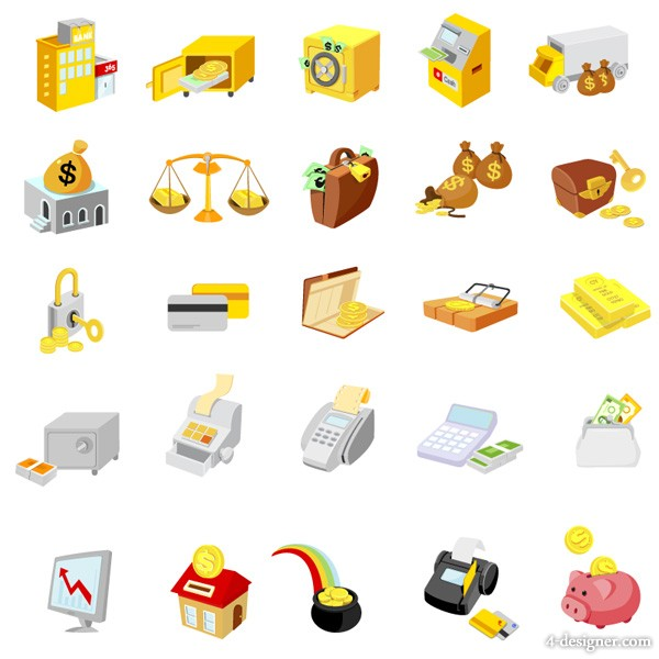 Commercial icon vector material