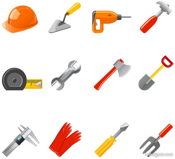 Commonly used tools icons   vector material