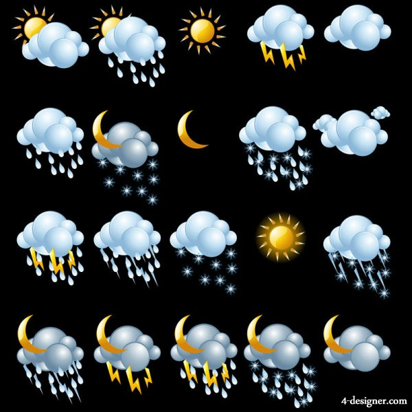 Fine weather icon 01   vector material