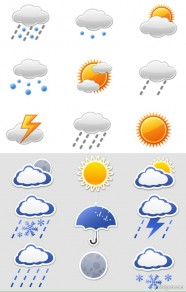 Icon Daquan   Weather articles vector material