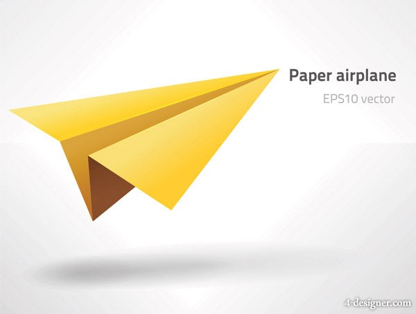 Paper airplane vector material