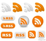 Rss Subscribe icon vector material   Vector material
