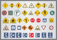 Shabby traffic signs icon vector material 03   Vector