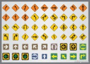 Shabby traffic signs icon vector material 04   Vector material