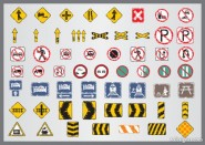Shabby traffic signs icon vector material 05   Vector