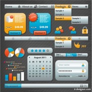 The utility web design elements 04   Vector material
