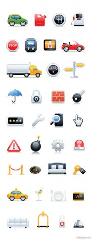The various icons icon set 03   vector material