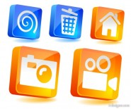 Three dimensional icon vector material