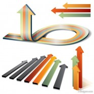 Web indicate the direction of the arrow vector material