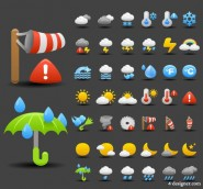 Cartoon Weather icon 01   vector material