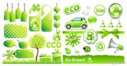 Low carbon environmental theme icon vector material