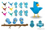 Twitter image vector material