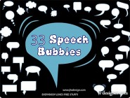 Variety dialogue bubble element vector material