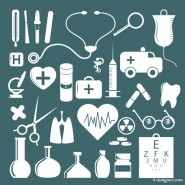 A simple medical icon vector material