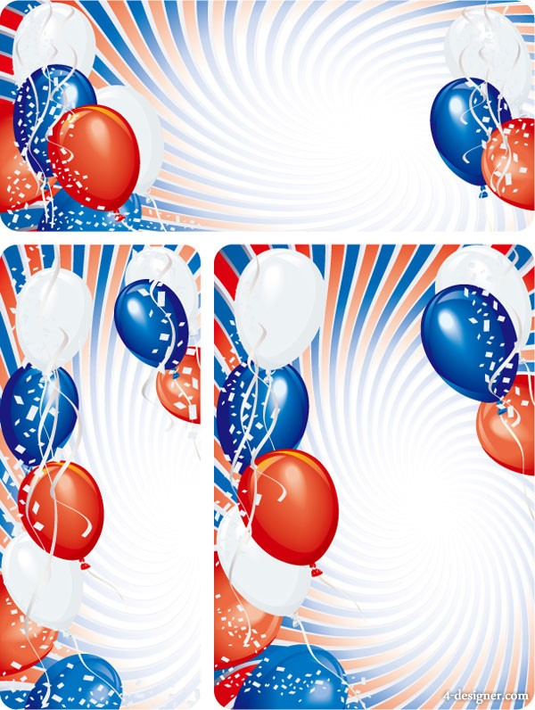 Colorful festive balloons vector material