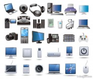 Digital technology products icon vector material