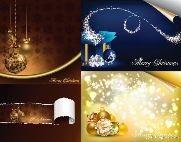 Gorgeous Christmas element vector material