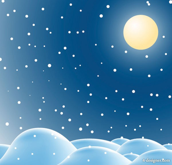 Snow vector material  2