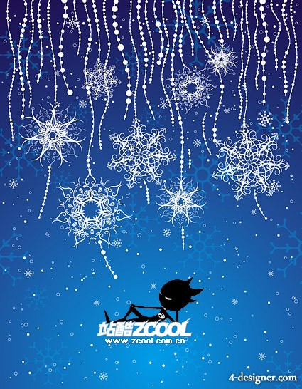 Special snowflake background vector material
