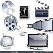 TV movie theme vector material