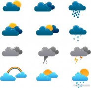 Weather icon vector material