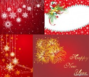 4, paragraph red Christmas and New Year Vector